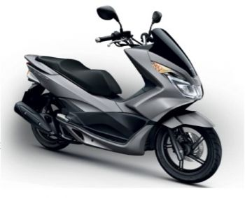PCX150 COVER, LEFT FRONT-MATT GRAY