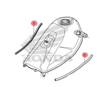 HONDA TRIM B,TANK SET