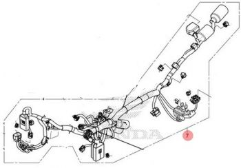CRF250RL HARNESS,WIRE