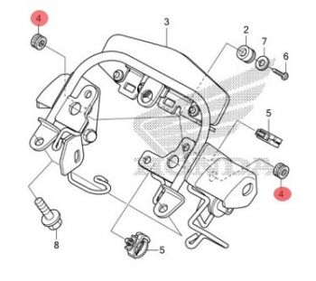 HONDA RUBBER,HEADLIGHT MOUNTING