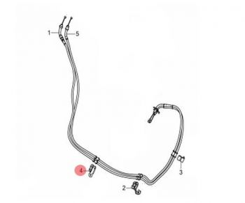 CLAMPER C, THROTTLE CABLE