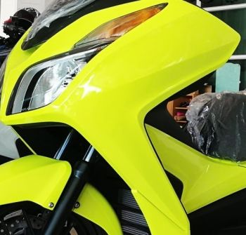 HONDA COVER,LEFT FRONT-YELLOW