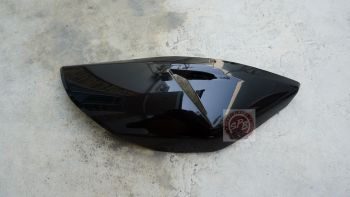 CRF250M/L COVER,FRONT MUFFLER-BLACK