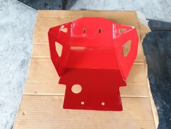 CRF250L/M HEAVY DUTY SKID PLATE-RED
